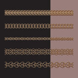 Gold chains set Stock Image