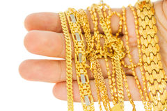 Gold Chains Royalty Free Stock Photography