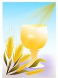 Gold chalice communion stock illustration