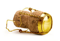 Gold Champagne Cork Royalty Free Stock Photography