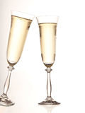 Gold Champagne glasses Royalty Free Stock Images