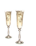 Gold Champagne glasses Royalty Free Stock Photo