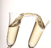 Gold Champagne glasses Royalty Free Stock Photography