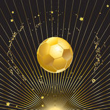 Gold champion soccer ball Stock Photos