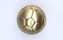 Gold championship soccer ball Stock Photos