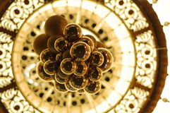 Gold chandelier adorns the interior Royalty Free Stock Photography