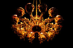 Gold chandelier Stock Images