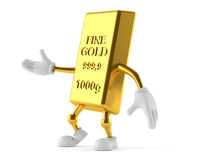 Gold character. Isolated on white background Royalty Free Stock Photography