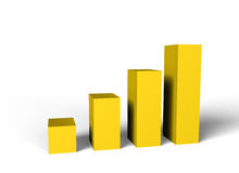 Gold chart Royalty Free Stock Images