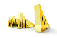 Gold charts Royalty Free Stock Images