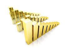 Gold charts Royalty Free Stock Image