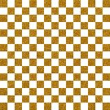 Gold Checked Glitter Paper Pattern. A digitally created metallic checked glitter background design Royalty Free Stock Photography