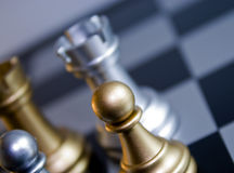 Gold Chess Pawn Royalty Free Stock Image