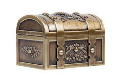Gold chest closed Royalty Free Stock Photo