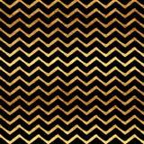 Gold Chevron Faux Foil Metallic Pattern Royalty Free Stock Images