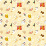 Gold Child Christmas Wrapping Paper Stock Images