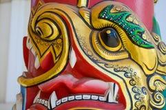 Gold china lion statue Stock Photo