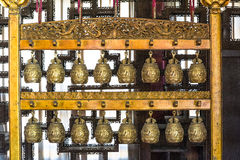 Gold Chinese ancient chime Stock Images