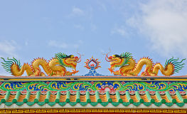 Gold Chinese dragon Stock Photos