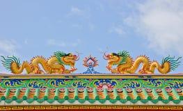 Gold Chinese dragon Stock Photos