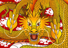 Gold chinese dragon Royalty Free Stock Image