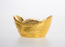 Gold or Chinese gold ingot mean symbols of wealth and prosperity Stock Image