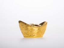 Gold or Chinese gold ingot mean symbols of wealth and prosperity Stock Images