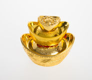 Gold or Chinese gold ingot mean symbols of wealth and prosperity Royalty Free Stock Photography