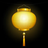 Gold chinese lantern. Stock Images
