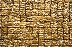Gold Chinese Wall Detail Royalty Free Stock Photography