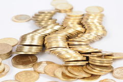 Gold chinks Stock Images