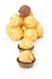Gold chocolate Stock Photo