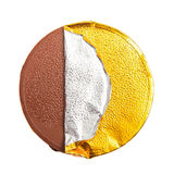 Gold Chocolate coin Royalty Free Stock Photography