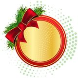 Gold christams frame Royalty Free Stock Photography