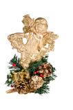 Gold christmas angel Stock Image