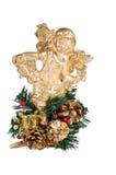 Gold christmas angel. On white background Stock Image