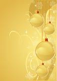 Gold Christmas Background Stock Photos