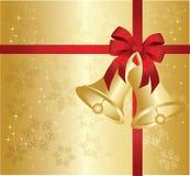 Gold christmas background royalty free illustration