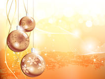 Gold Christmas background. With decoration Royalty Free Stock Photos