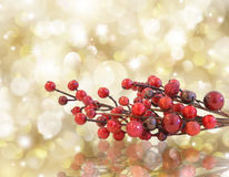Gold Christmas background Stock Photo