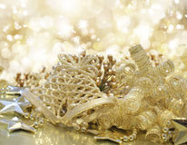 Gold Christmas background Royalty Free Stock Images