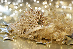 Gold Christmas background Stock Image