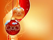 Gold_christmas_background Stock Image