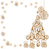 Gold christmas background. For holiday seasons, christmas and others Stock Image