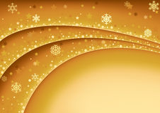 Gold Christmas Background Stock Image