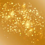 Gold Christmas background Royalty Free Stock Photos