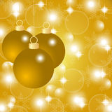 Gold Christmas background with Christmas balls Royalty Free Stock Photos
