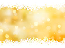 Gold christmas background with copy space Stock Photos