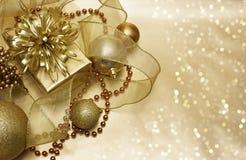 Gold Christmas background Royalty Free Stock Image