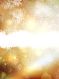 Gold Christmas background. EPS 10 Stock Photo
